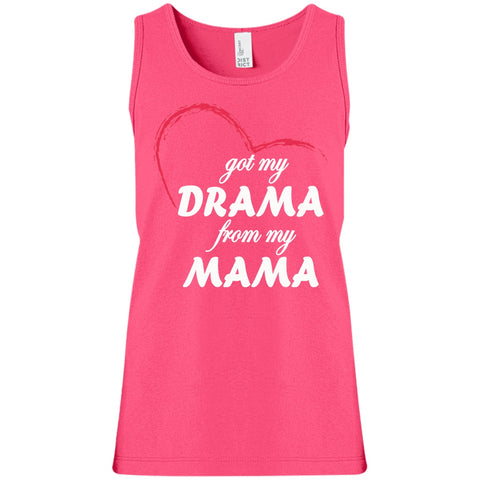 Image of T-Shirts - Drama From My Mama Girls' 100% Cotton Tank Top