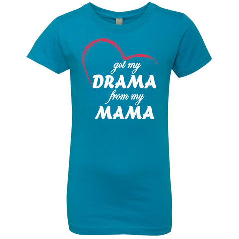 Image of T-Shirts - Drama From My Mama Girls' Princess T-Shirt