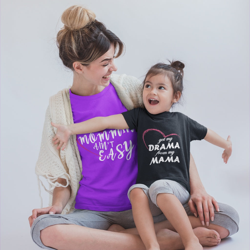 T-Shirts - Drama From My Mama Toddler Jersey T-Shirt