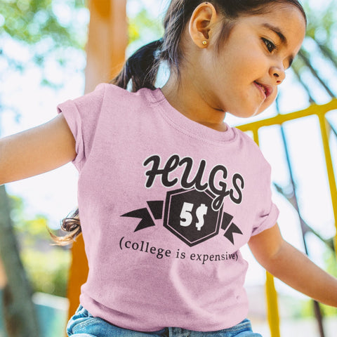 T-Shirts - Hugs For College Toddler Jersey T-Shirt