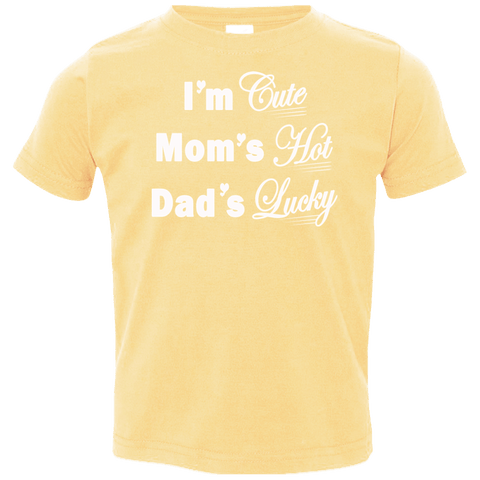 Image of T-Shirts - I'm Cute Toddler Jersey T-Shirt