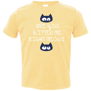 T-Shirts - Kitten Meow Toddler Jersey T-Shirt