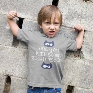 Kitten Meow Toddler Jersey T-Shirt