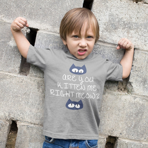 Image of T-Shirts - Kitten Meow Toddler Jersey T-Shirt