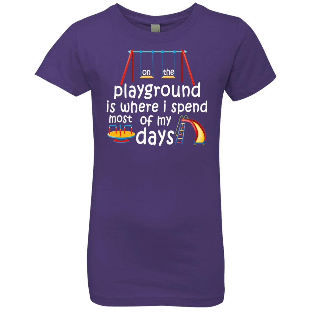 T-Shirts - On The Playground Girls' Princess T-Shirt