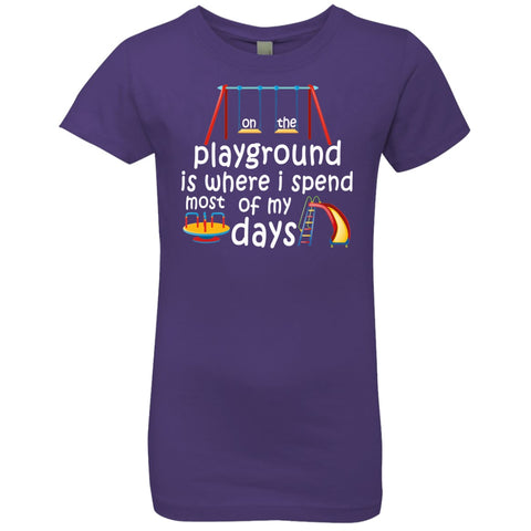 Image of T-Shirts - On The Playground Girls' Princess T-Shirt