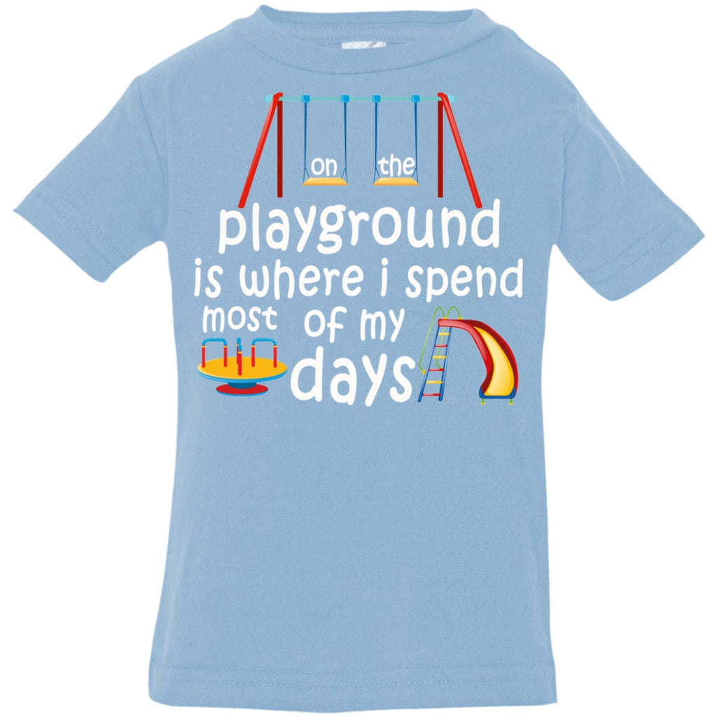 T-Shirts - On The Playground Infant Jersey T-Shirt
