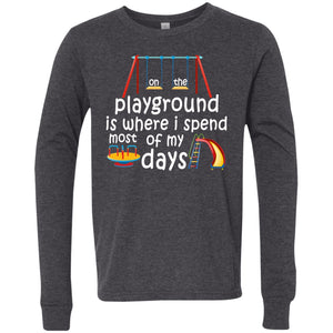 T-Shirts - On The Playground Youth Jersey LS T-Shirt