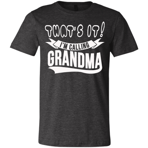 T-Shirts - That's It I'm Calling Grandma Youth Jersey Short Sleeve T-Shirt