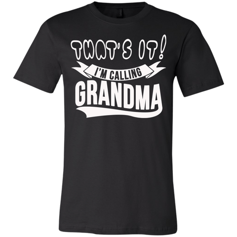 Image of T-Shirts - That's It I'm Calling Grandma Youth Jersey Short Sleeve T-Shirt