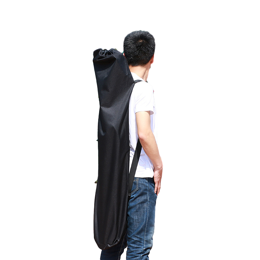 Electric Skateboard Backpack Longboard Carry Travel Bag - Black - 48.5 in X 15 in - Compact - Water Resistant - Drawstring Closure - ElectricSkateHQ