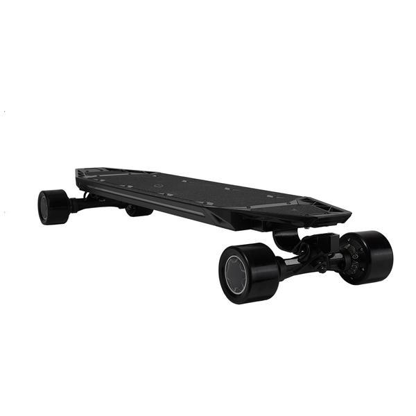 "Acton QU4TRO Electric Skateboard - 2000W Quad Hub Motors - 23 MPH 22 Mile Range - 39"" Deck - Rechargeable Lithium-ion Battery - Bluetooth Wireless Remote Control - All Wheel Drive Torque Monster - ElectricSkateHQ"