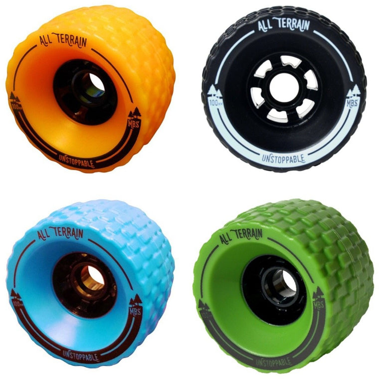 Atom Electric Skateboards B10.X B18.DX and MBS 100mm Replacement Spare All-Terrain Off Road Tires - Longboard Wheels - ElectricSkateHQ