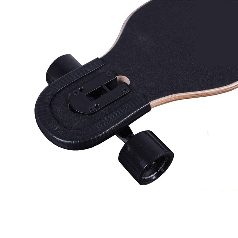 Skateboard Bumper 2-Piece 13.8 Inches / 35 Cm Nose and Tail eSkate Deck Guard Protection Strips - Durable Shock Absorbing Longboard Anti-collision Rubber Cover - ElectricSkateHQ