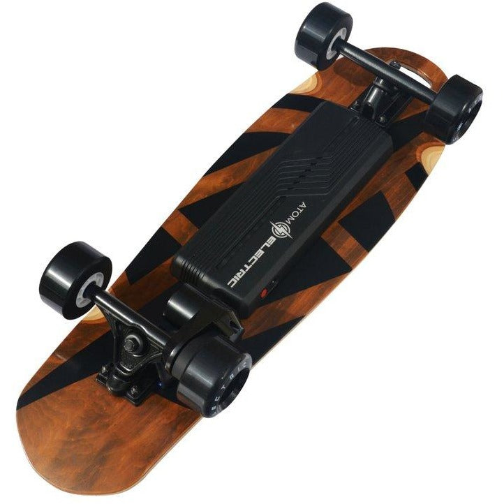 "Atom Electric Skateboards B10 Longboard - 1000W Single Belt Drive - 16 MPH 6 Mile Range - 29.5"" Deck - 90Wh Rechargeable Lithium-ion Battery - Wireless Remote Control - ElectricSkateHQ"