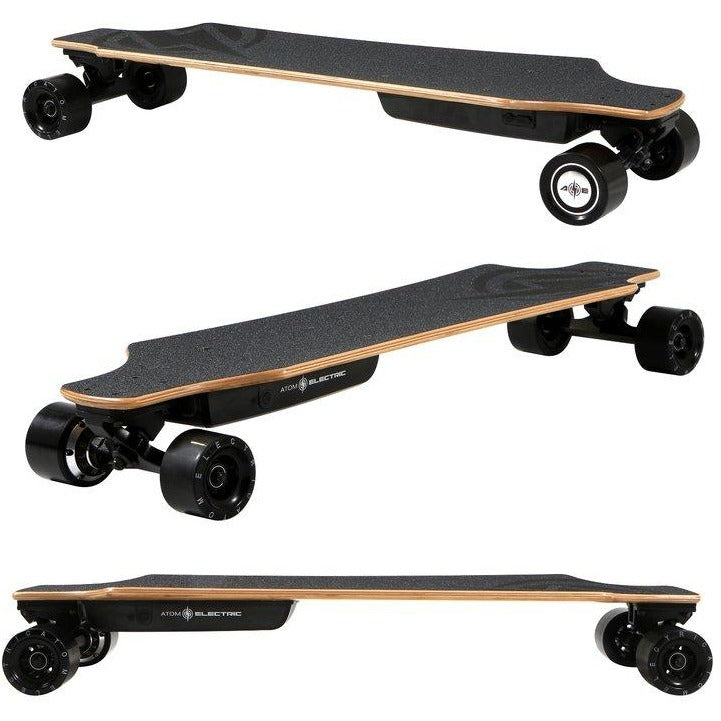 "Atom Electric Skateboards H10 Longboard - 700W Single Hub Motor - 16 MPH 8 Mile Range - 36"" Deck - 104Wh Rechargeable Lithium-ion Battery - Wireless Remote Control - ElectricSkateHQ"