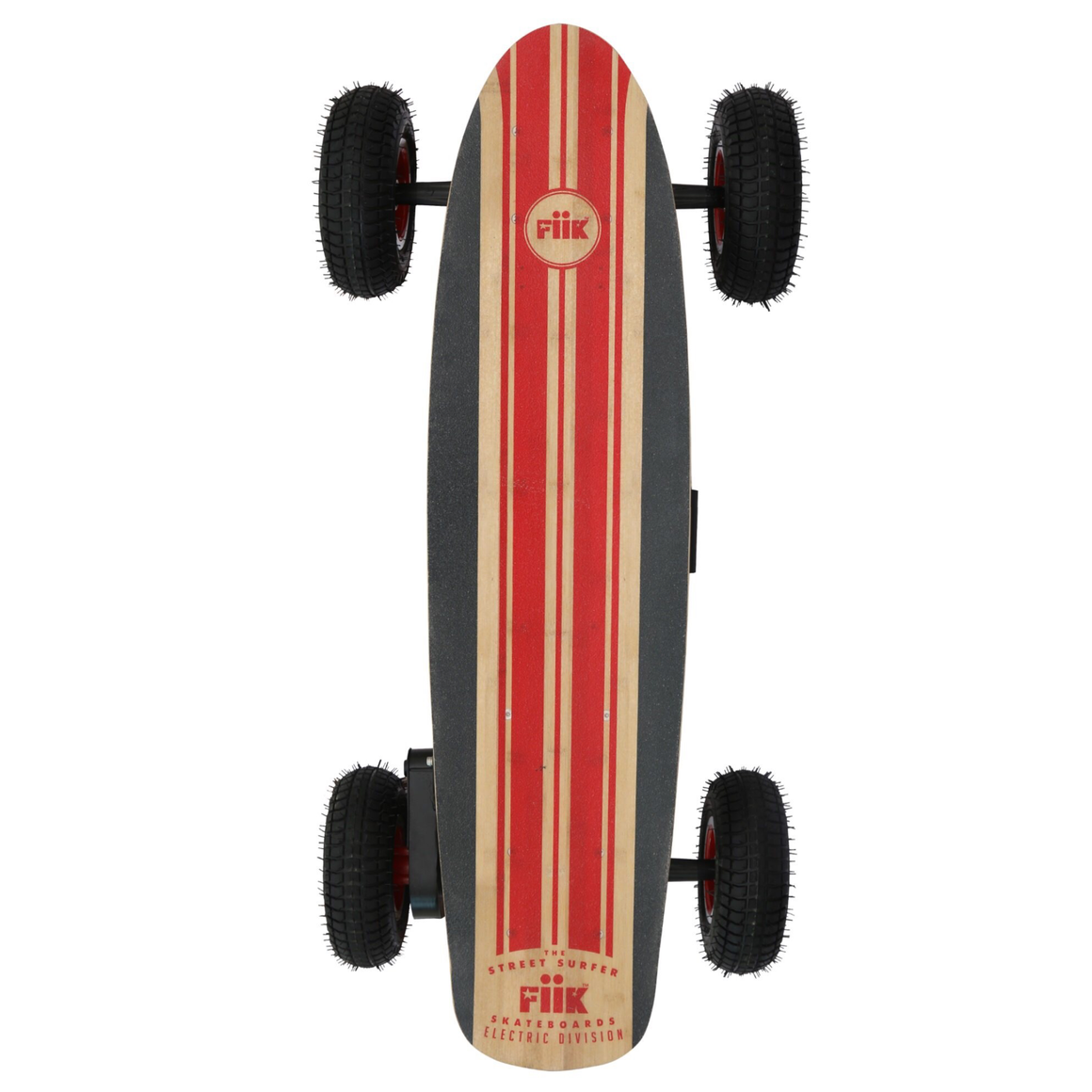 "FiiK Street Surfer All Terrain Electric Skateboard - 1000W Single Belt Drive Brushless Motor - 22MPH 15 / 50 Mile Range - 43"" Deck - 9"" Pneumatic Tires - 13Ah / 30Ah Rechargeable Lithium Battery - 2.4GHz Wireless Remote Control - ElectricSkateHQ"