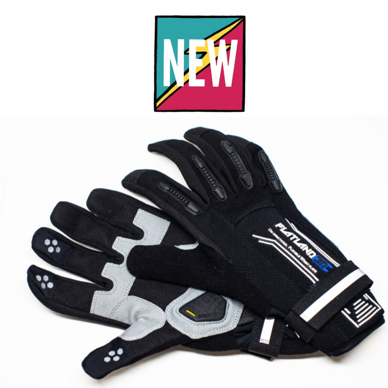 Flatland3D Knox Pro eSkate Protective Gear Skateboarding Gloves - Full Finger - Perfect Remote Grip - Patented Wrist Protection - Designed for Maximum Comfort - ElectricSkateHQ