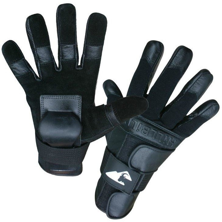 Hillbilly Protective Gear Skateboard Wrist Guard Gloves - Black - Full Finger - ElectricSkateHQ