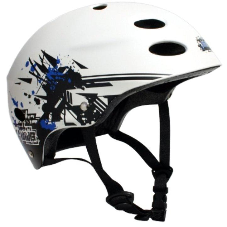 MBS Protective Gear Skateboard Helmet - Grafstract - White - ElectricSkateHQ