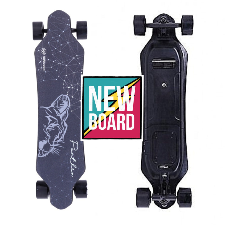 "WINboard Panther Electric Skateboard - 3000W Dual Hub Motor - 25MPH 20 Mile Range - 37.5"" Deck - 324Wh Rechargeable Lithium-ion Genuine Samsung Battery - 2.4GHz Wireless Remote Control with LCD Screen - ElectricSkateHQ"