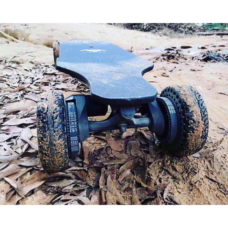 "WINboard Big Cat Pro Rugged All Terrain Electric Skateboard - 2000W Dual Belt Drive Brushless Motors - 30MPH 15 Mile Range - 38.5"" Deck - 6"" Airless AT Wheels - 324Wh Rechargeable Lithium Ion Battery - Wireless Remote Control - ElectricSkateHQ"
