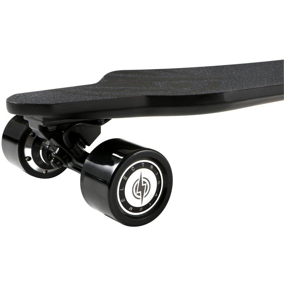 "Atom Electric Skateboards H16D Ultra-Slim Carbon Longboard - 1400W Dual Hub Motors - 20 MPH 12 Mile Range - 36.6"" Deck - 158Wh Rechargeable Lithium-ion Battery - Wireless Remote Control - ElectricSkateHQ"