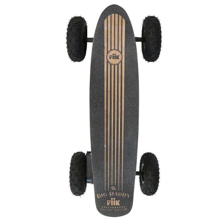 "FiiK Big Daddy Off Road Electric Skateboard - 1000W Single Belt Drive Brushless Motor - 22MPH 15 / 50 Mile Range - 46"" Deck - 10.4"" Pneumatic Tires - 13Ah / 30Ah Rechargeable Lithium Battery - 2.4 GHz Wireless Remote Control - ElectricSkateHQ"