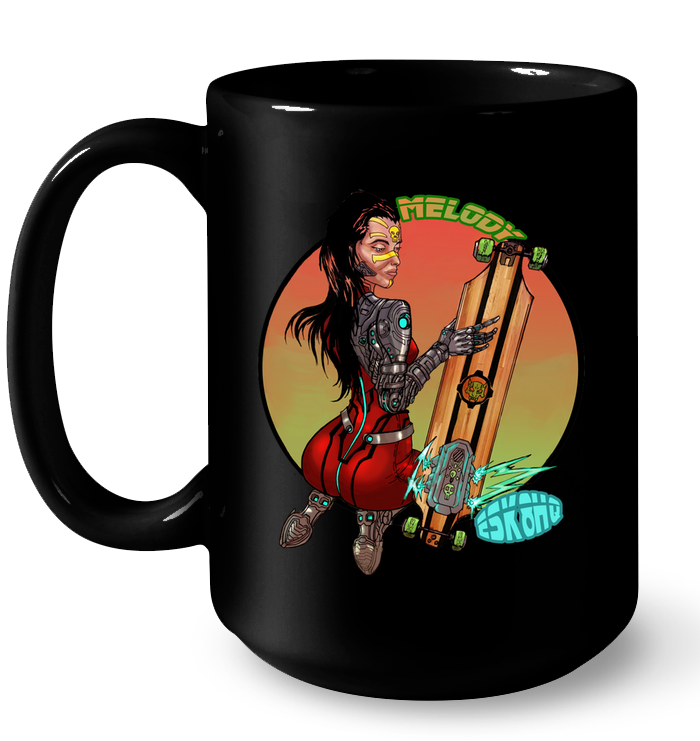 Team Melody ESK8HQ Skater Ceramic Coffee Mug - ElectricSkateHQ