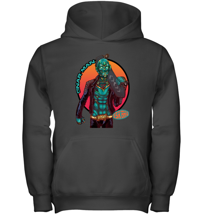Team Gnar Man Youth Hoodie Kids Skater Apparel - ElectricSkateHQ