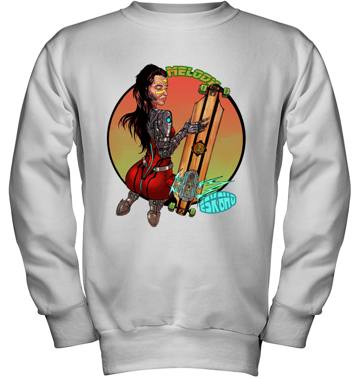 Team Melody Youth Sweatshirt Kids Skater Apparel - ElectricSkateHQ