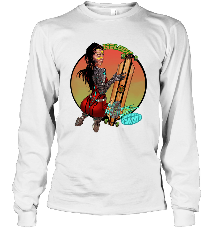 Team Melody Unisex Long Sleeve T-Shirt Mens Womens Skater Apparel - ElectricSkateHQ