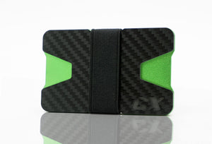 Carbon Fiber CX Wallet & Built-In Bottle Opener - Green