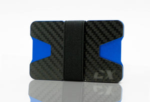 Carbon Fiber CX Wallet & Built-In Bottle Opener - Blue