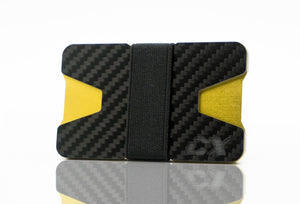 Carbon Fiber CX Wallet & Built-In Bottle Opener - Gold