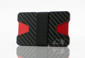 Carbon Fiber CX Wallet & Built-In Bottle Opener - Red