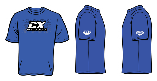 CX Wallets Blue Shirt