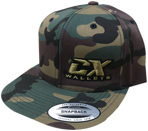 CX Wallet Camo Flat Bill Snapback Hat