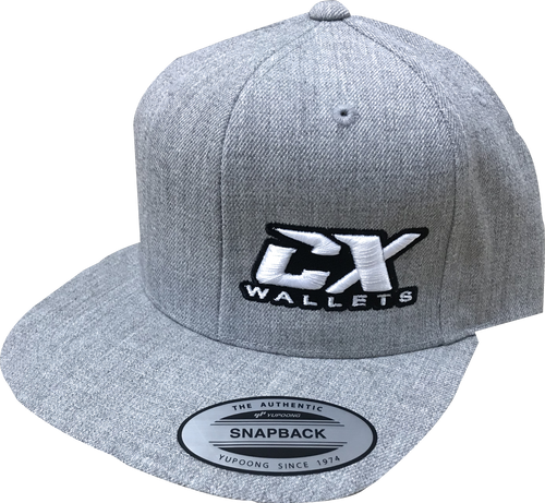 CX Wallet Grey Flat Bill Snapback Hat