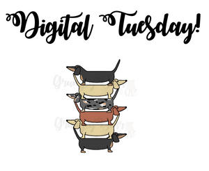 Digital Tuesday-Wiener Dog tower bookmark