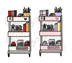 DIGITALITEM- Planner Girl Carts