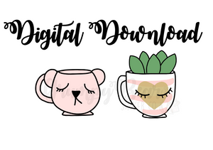 Digital download-Pretty mug set