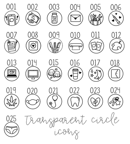 BNSC- Tiny Love Icons- Circles