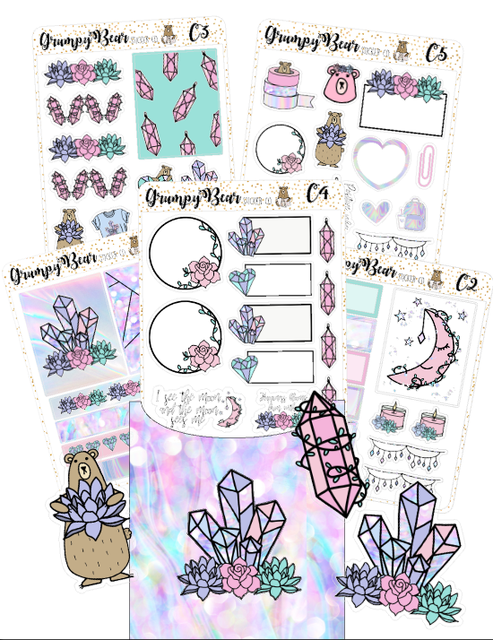 Grumpy Bear Crystal Love Pocket Kit