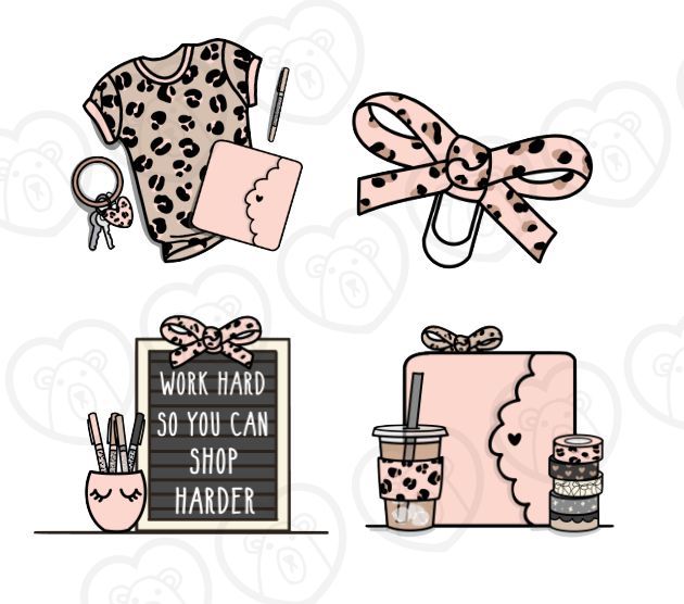 Bear Necessities- February 4pc. Die Cut Set