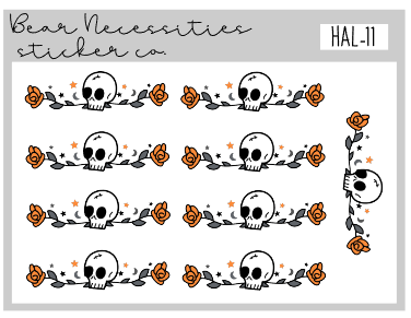 HAL 11-Skull Dividers Mini Sheet