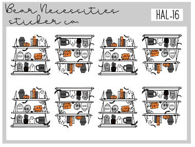 HAL 16-Spooky Shelf Mini Sheet
