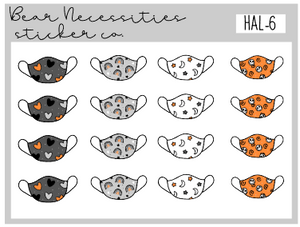 HAL 6-Spooky Masks Mini Sheet