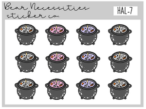 HAL 7-Cauldron Candles Mini Sheet