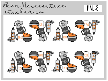 HAL 8-Spooky Dishes Mini Sheet